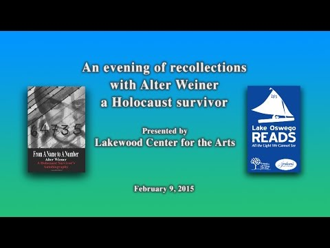 An evening of recollections with Alter Weiner a Holocaust surviver