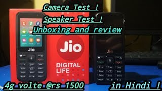 jio phone unboxing and review in hindi | best battery backup ? best camera ?