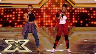 Double Trouble as Aaliyah Robinson & Acacia K UNITE! | Auditions Week 2 | The X Factor UK 2018