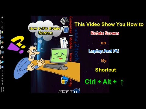 How to Rotate Screen on Laptop and PC by Shortcut