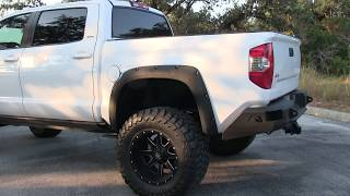 "2014 Toyota Tundra CrewMax for Sale 10"" BDS Lift Fab Fours Bumpers Full Audio System"