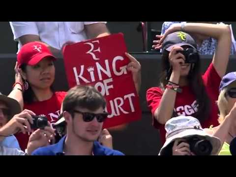 No. 1 Court loves Roger Federer - Wimbledon 2014