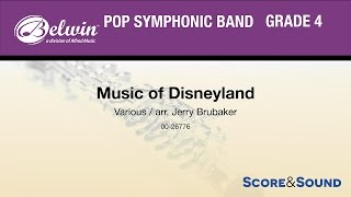 Music Of Disneyland Arr Jerry Brubaker Score Sound