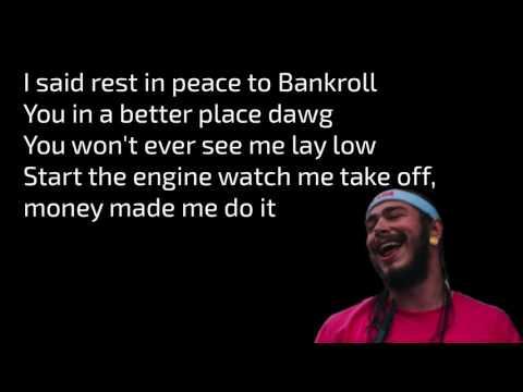 Post Malone-Money Made Me Do It feat. 2 Chainz lyrics