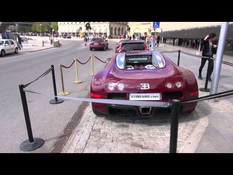 Bugatti Veyron at Grand Hotel in Sweden, special parking for a special car