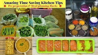 Time Saving Kitchen Tips/Hacks for Healthy Lifestyle | Indian Vegetarian Meal Planning | Urban Rasoi