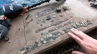 Metal Detecting Underwater at an Old Swimming Hole! Found Huge SILVER!
