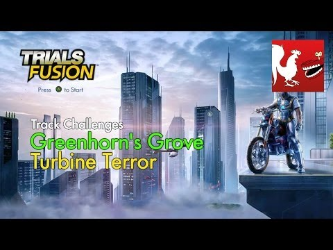 Trials Fusion - Greenhorn's Grove Turbine Terror Track Challenges