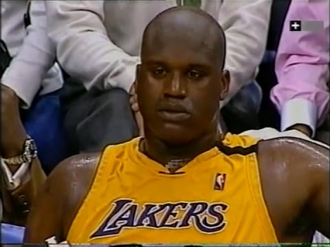 Shaquille O'Neal Highlights vs Sacramento Kings 2000 WCR1 GM1 - 46 Pts, 17 Rebs, 5 Blks