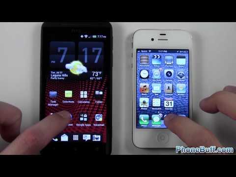 HTC EVO 4G LTE vs. iPhone 4S Speed Comparison