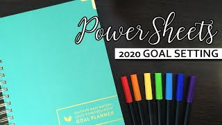 PowerSheets | 2020 Goal Setting and Prep Pages