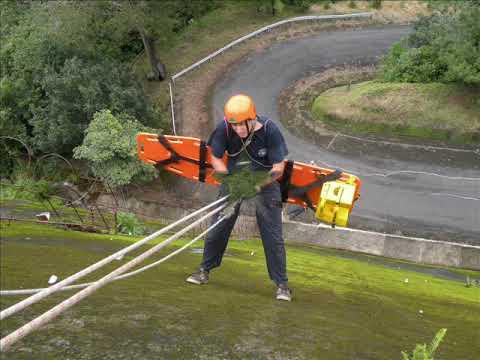 Bomberos Costa Rica Liberia - PROCERS Rescate Vertical II.wmv