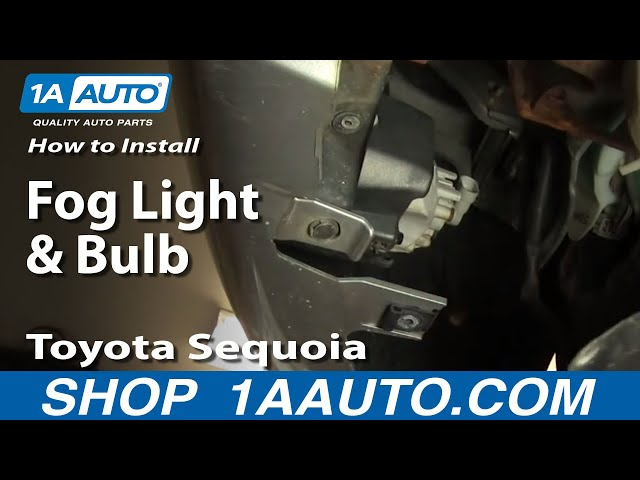How To Install Replace Fog Light and Bulb Toyota Sequoia ...