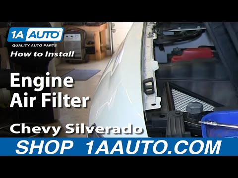 How To Install Replace Engine Air Filter 2007-13 Chevy Silverado GMC Sierra