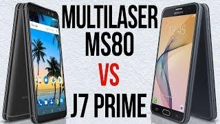 MS80 vs J7 Prime (Comparativo em 3 minutos)