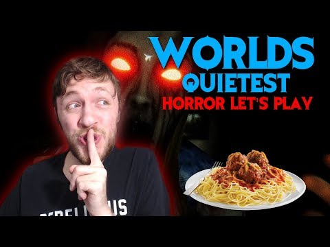 Worlds Quietest Horror Let's Play - Somebody Touch My Spaghet  Horror Game Let's Play(ASMR?)