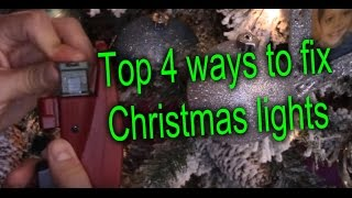 How to Fix Christmas Lights, 4 easy ways