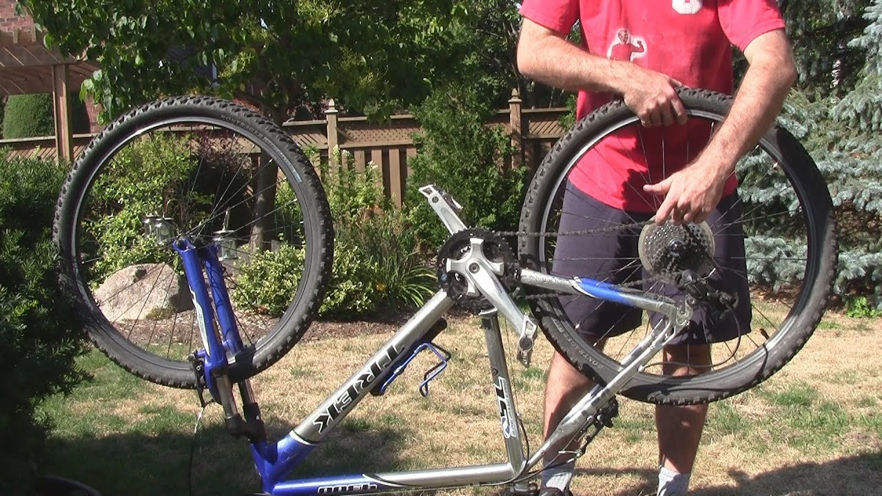 How To Remove The Rear Wheel of a Bicycle - YouTube