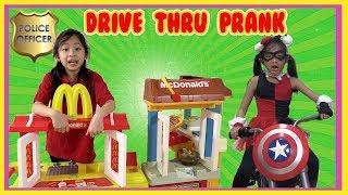 Pretend Play Mcdonalds Drive Thru with Ryan's Toy Review inspired ( Mcdonalds PRANK Fake Money )
