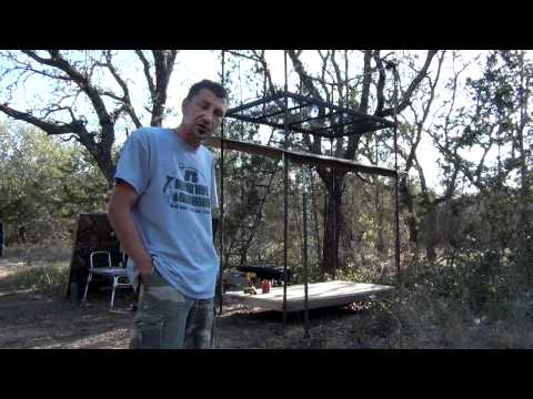 Custom Texas Hunting Blind Building Tips 1/5