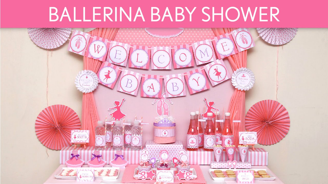 Ballerina Baby Shower Ideas S49 YouTube