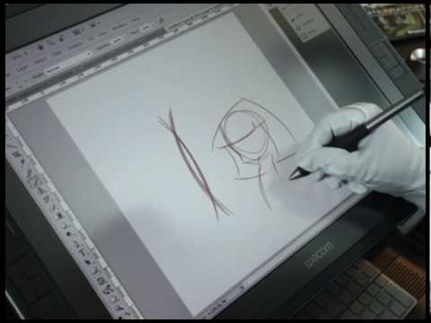 Drawing A Cartoon Character In Photoshop With A Wacom