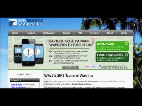 How to get Earthquake & Tsunami Alerts to cell phones by SMS