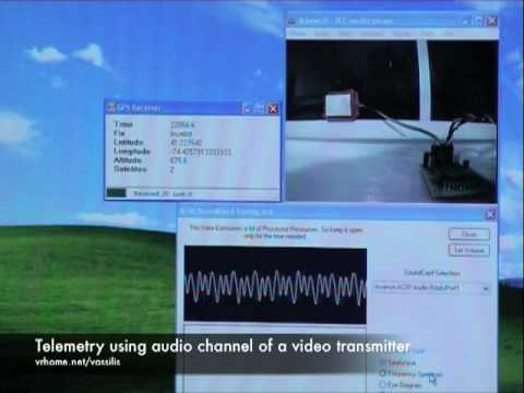 Telemetry using audio channel of a video transmitter