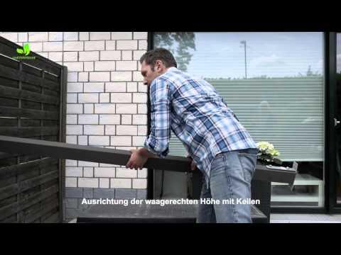 Gartenfreude Montage WPC Zaun