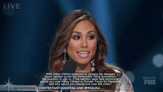 Miss USA 2016 - Question and Answer