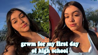 GRWM: FIRST DAY OF HIGHSCHOOL (freshman)