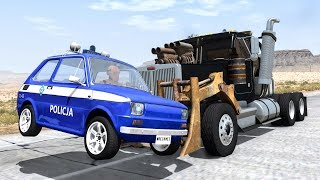 Crazy Police Chases #65 - BeamNG Drive Crashes