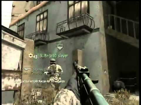 COD4 Gameplay and Commentary- Stampeding Grandmas Returns as a Brown belt!