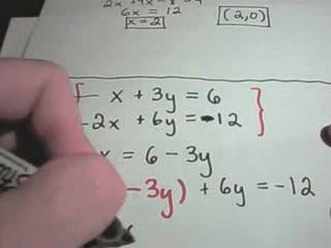 Solving Linear Systems of Equations Using Substitution