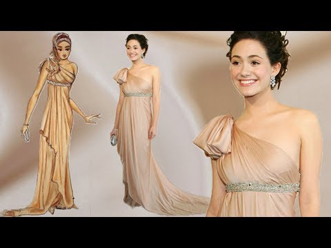 Design Dress Tutorial Emmy Rossum Silk Dress in Tan