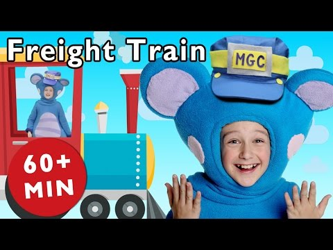 Freight Train and More | Nursery Rhymes from Mother Goose Club!