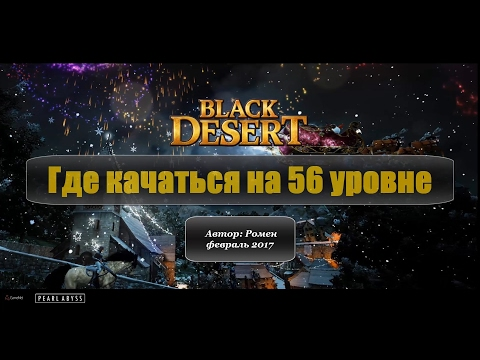 Где качаться на 56 уровне в Black Desert - YouTube