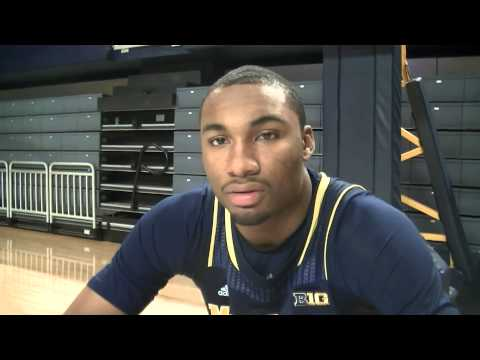 Zak Irvin at 2013-14 Michigan Wolverines Basketball Media Day