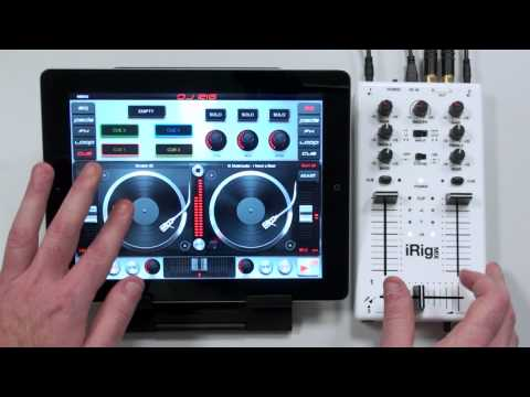 Scratching with DJ Rig for iPad and iRig MIX - On 1 iPad - A New Dimension in Mobile DJing