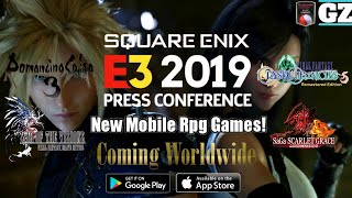 New Mobile JRPG Games! - SQUARE ENIX E3 2019 - Gameplay Trailers