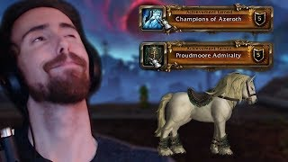 Asmongold Gets Exalted With Champions Of Azeroth And Proudmoore Admiralty And Buys New Mount!
