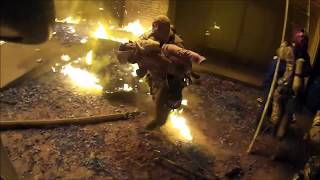 Dramatic Video: Hero Firefighter Catches Baby Dropped from Burning Building
