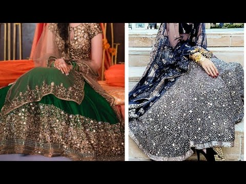 Beautiful designer mirror work on lehenga/mirror work lehenga choli designs ideas for girls and wome
