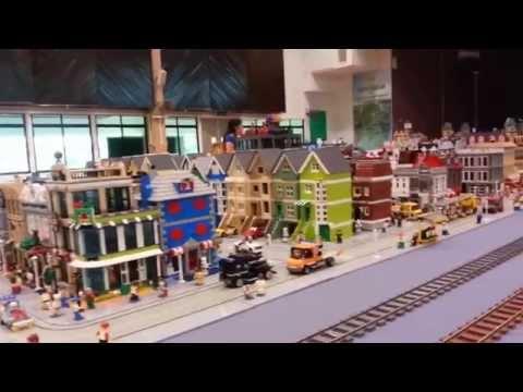 I LUG BN KB 2014 lego train/town display 29/30 Nov SMSA Brunei Goodwill day