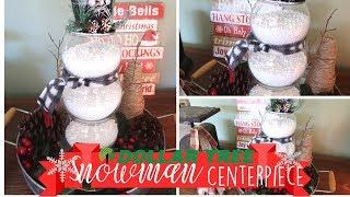 Dollar Tree Christmas DIY | Rustic Christmas decor | Snowman Decor | Budget Friendly