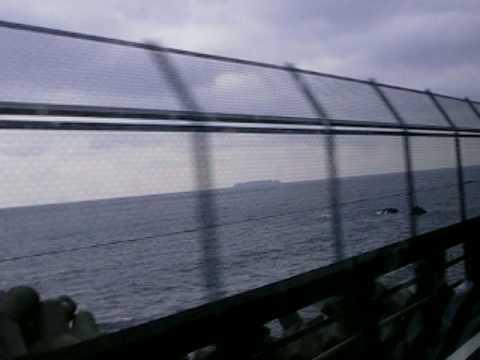 神奈川県、湯河原付近の海岸線美、マイクロバス車窓動画
