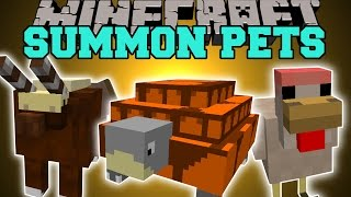 Minecraft: SUMMONING PETS (MAGIC CHICKEN, WAR TORTOISE, SPIRIT WOLF, & MORE!)) Mod Showcase