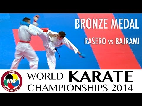 RASERO vs BAJRAMI. 2014 World Karate Championships. Male kumite -67kg. Bronze medal fight