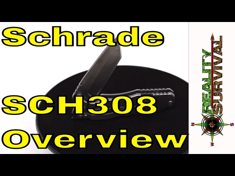 Schrade SCH308 Quick Look - This Is One Heavy Duty EDC Knife!