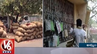 Farmers Protest In Mirchi Market Yard || Khammam |